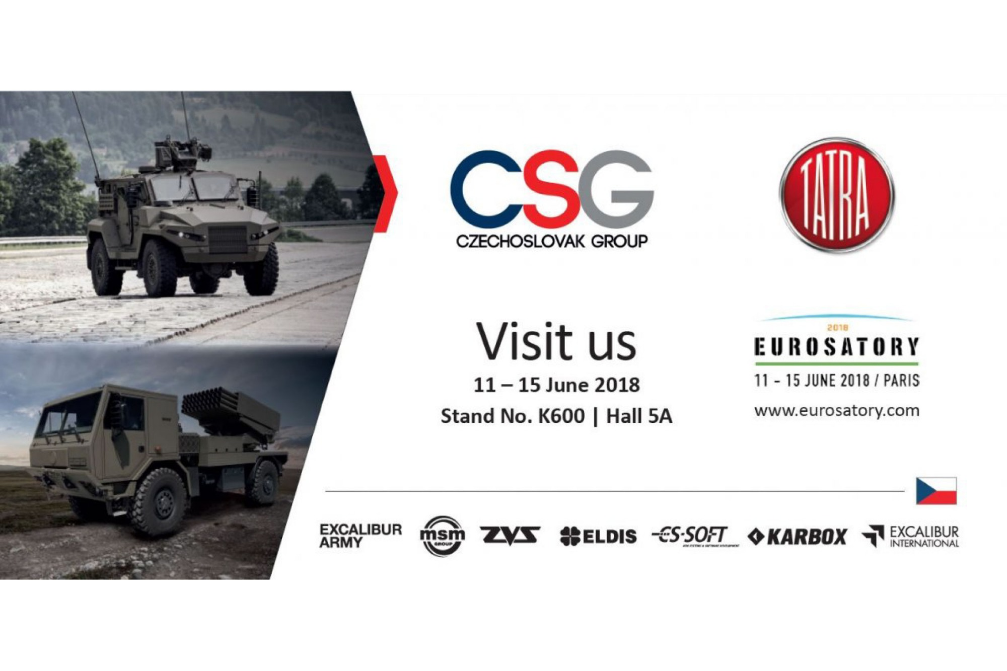 Companies of the holding CZECHOSLOVAK GROUP and TATRA TRUCKS invite you to Eurosatory 2018