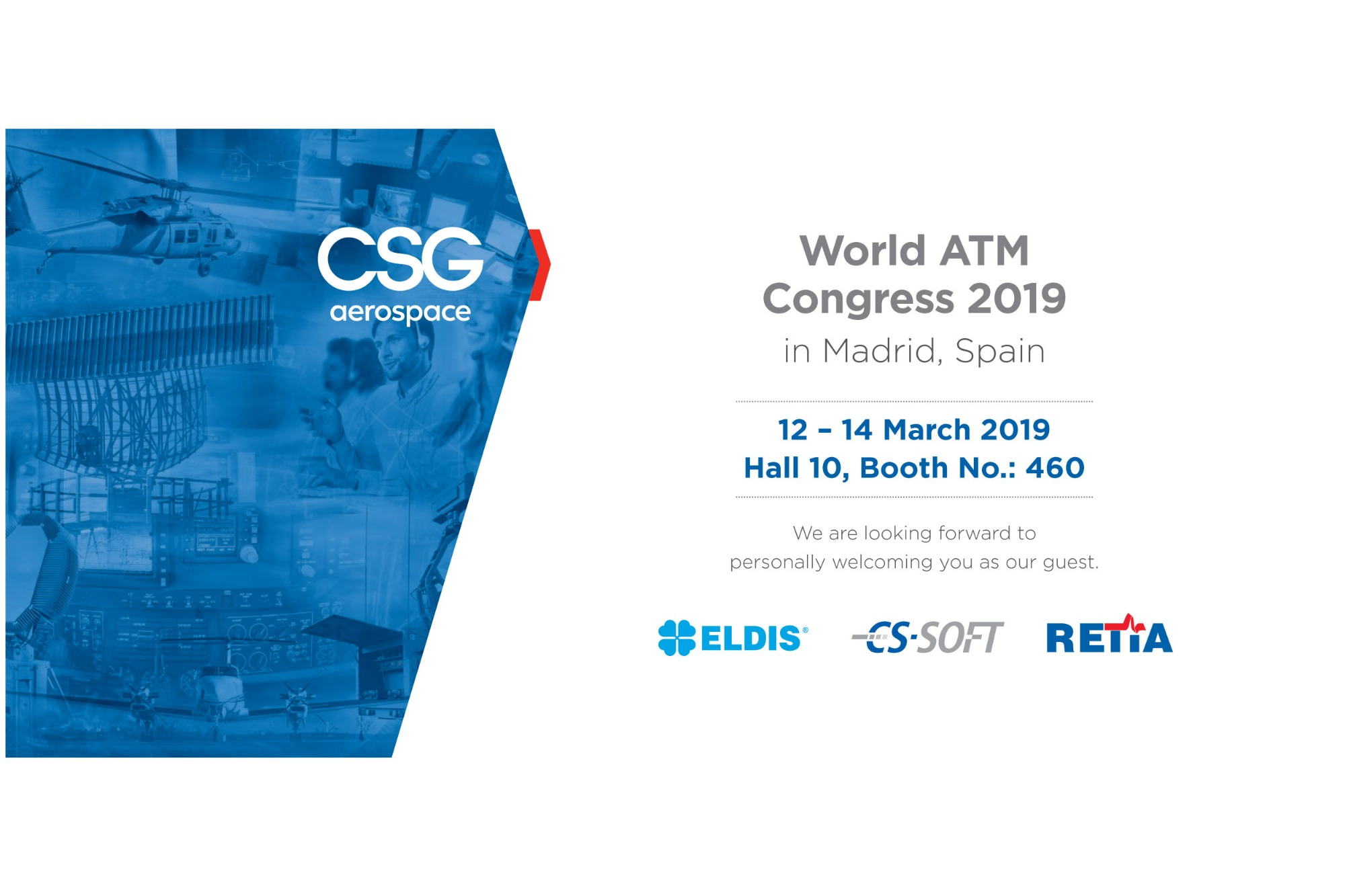 Czech companies CS SOFT, ELDIS and RETIA will jointly present their products at the 2019 World ATM Congress in Spain